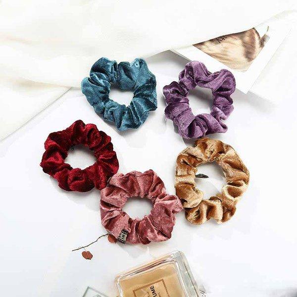 Samt elastische Haarbänder Haargummi Seile Scrunchie für Frauen oder Mädchen Haarschmuck