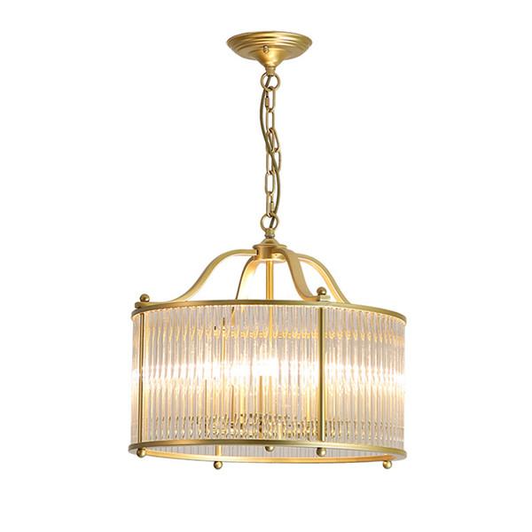 Lustre en cristal moderne lampes salle à manger chambre rétro pendentif lumière européenne luxe lustres en cristal d'or luminaire