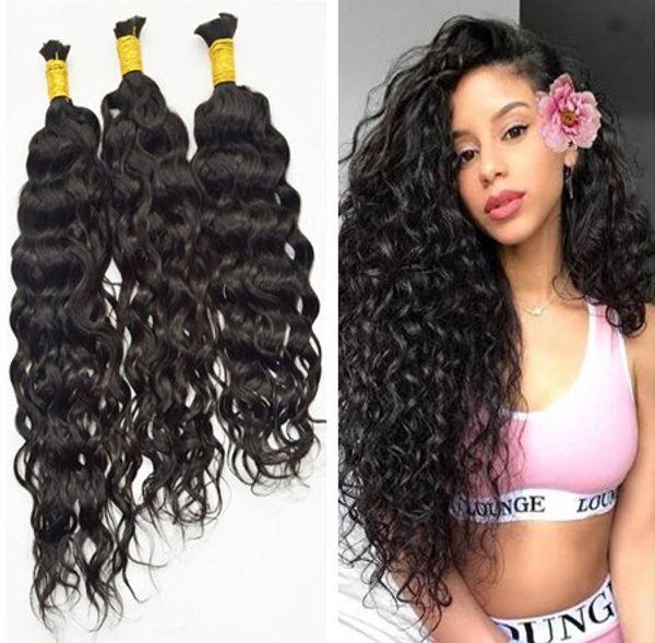 best selling Grade 9a Micro mini Braiding Hair Brazilian Bulk Hair For Braiding 3pcs Lot 100% Human Wet And Wavy Brazilian Braiding Hair