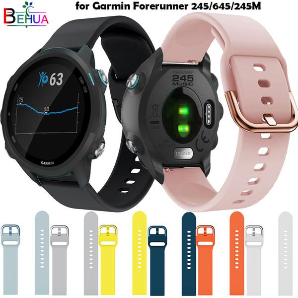 Correa de reloj deportivo original de silicona para Garmin Forerunner 245/645 / 245M / Galaxy reloj correa inteligente de 42 mm Correa de reemplazo