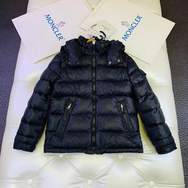Children down jacket kids designer clothing winter boys and girls freezing jacket goose down filling hat detachable