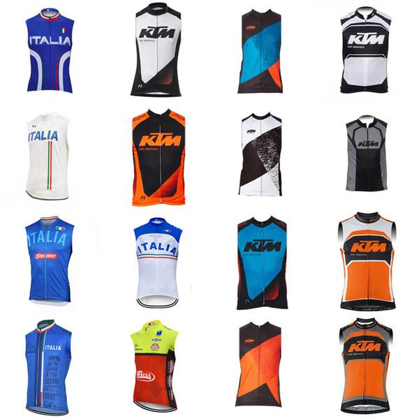 ITALIE KTM 2019 Mode Homme été Respirant Cyclisme Sans manches en jersey Gilet Confortable résistant à l'usure Top marque 52713