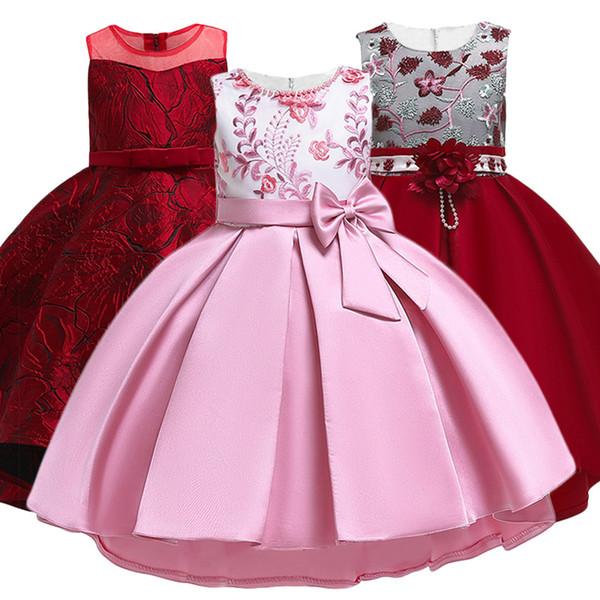 Crianças vestidos de verão para meninas vestido de noiva elegante da criança meninas princesa dress crianças vestidos de festa à noite vestido infantil y19061303