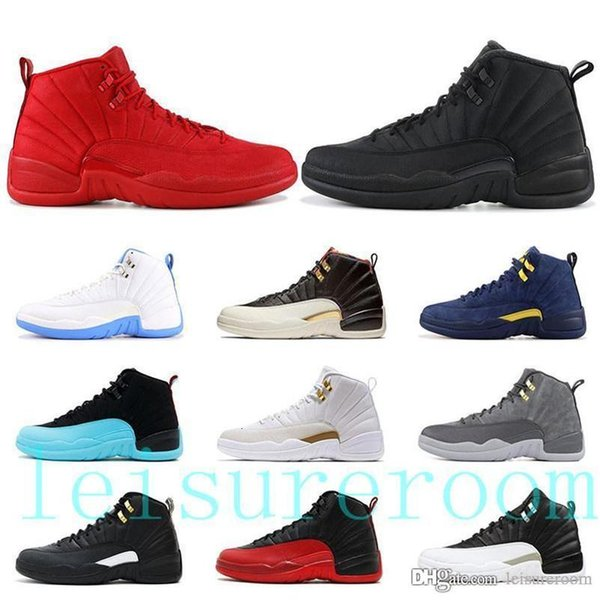 top popular High Quality 12s Jampman Gym Red Playoff International Flight Mens Basketball Shoes Winter Black CNY Michigan 12 TOP Designer Sneakers 2021
