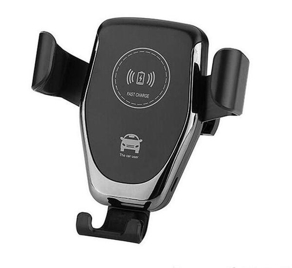Caricabatterie wireless Qi per iPhone X XR XS Max 8 Plus 10W Caricabatteria da auto veloce senza fili Ricarica Pad per Samsung S9 S8 Caricatore supporto auto Vendita calda