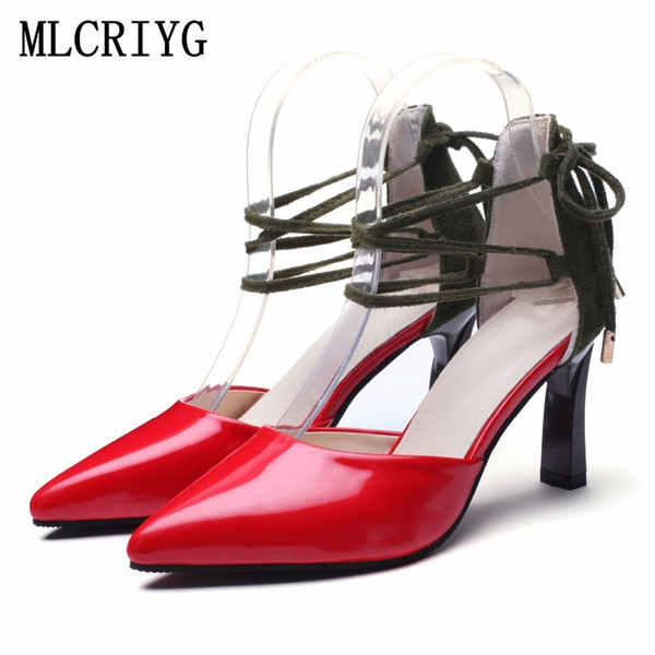 Dress Shoes Size 35-46 Plus Size 2019 New Spring Women Pumps Sky High Heels Shallow Sexy Woman Ladies Comfortable Formal Footwear