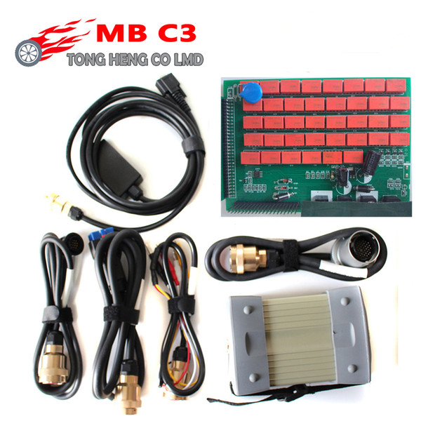 Quality A MB Star C3 Full Set With All Cables MB C3 Star Diagnosis Tool MB Star C3 Multiplexer Tester