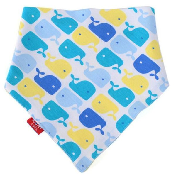 2 piece/lot Cotton Towel Baby Bandana Burp Cloths Baby Slobber Triangle Cartoon Double Suction Children Bib Maternity DHL Wholesale