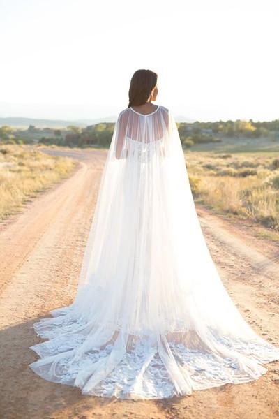 2019 Lace Appliques Tulle Wedding Cape Elegant Bridal Accessories Women Evening Shawl cape mariage
