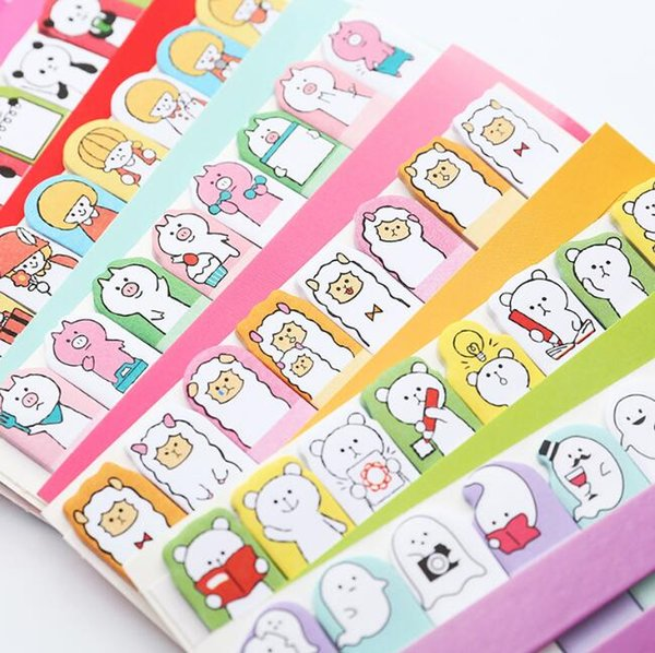 top popular Bookmarks Tab Sticky Notes Cute Kawaii Cartoon Animals Sticky Memo Pads Sticky Notes Memos Stationery Note Paper Stickers School Supplies 2020