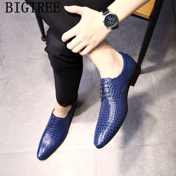 scarpe da coccodrillo uomo eleganti scarpe da sposa di marca italiana uomo formale abito coiffeur classico big size erkek ayakkabi bona