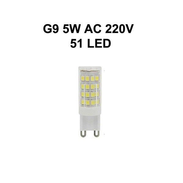 G9 5W AC220V 51LED