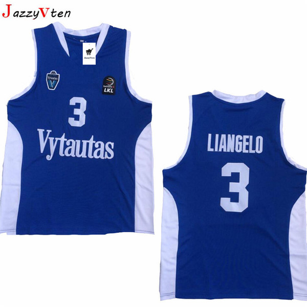 more photos d7ebc 356a4 2019 Men Lithuania Prienu Vytautas Basketball Shirt 1 LaMelo Ball Jersey 3  LiAngelo Ball Uniform 99 LaVar Ball All Stitched Good Team Blue White From  ...