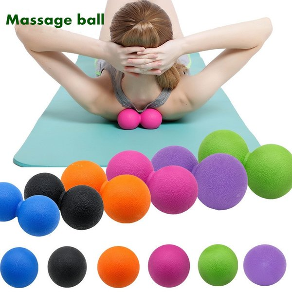 best selling Back Massager Muscle Relaxation Double Lacrosse Peanut Massage Ball For Body Neck Scapula Waist Leg Foot Massagers Fitness Yoga Balls
