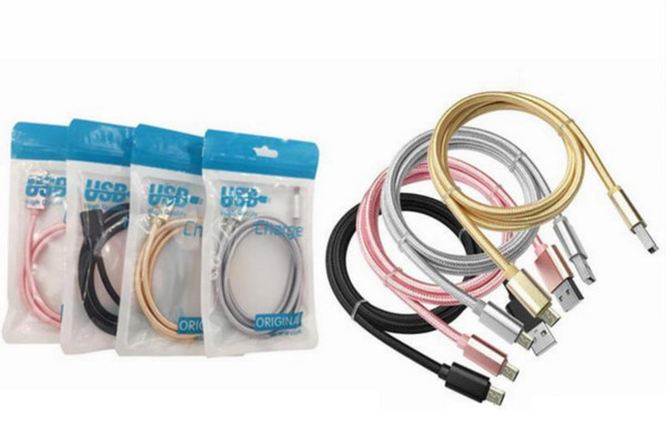 Fa t peed for micro u b charger braid braided cable type c cable 1m 3ft for am ung 9 8 7 6 huawei 8 7 6 with retail bag