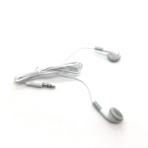 Factory price Disposable Simple White Earphones Headphone Headset for mobile phone MP3 MP4 for bus or train or plane best quanlity
