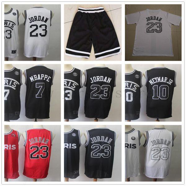 8c83a10dfea Stitched 2019 New AJ PSG Paris Basketball Jerseys 23 Michael JD 10 NEYMA JR  7 MBAPPE