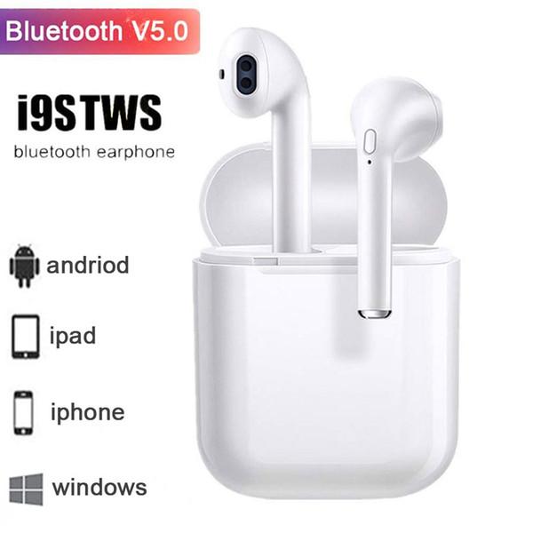 Original i9s TWS Twins Mini Bluetooth 5.0 Emparejar automáticamente las cápsulas de auriculares Auriculares estéreo Auriculares deportivos Auriculares intrauditivos con cubierta de micrófono