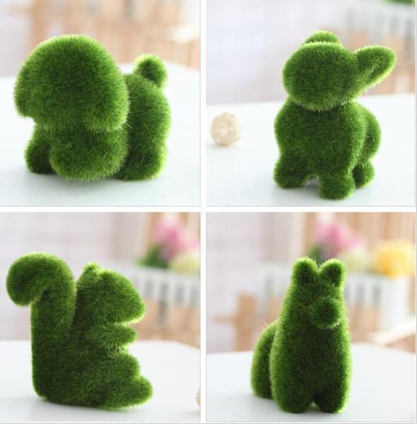 GrassLand grama artificial Bonito pequeno animal adorável urso de exibição Decoração Aliviar a fadiga do olho Falso grama artigos de decoração DT001