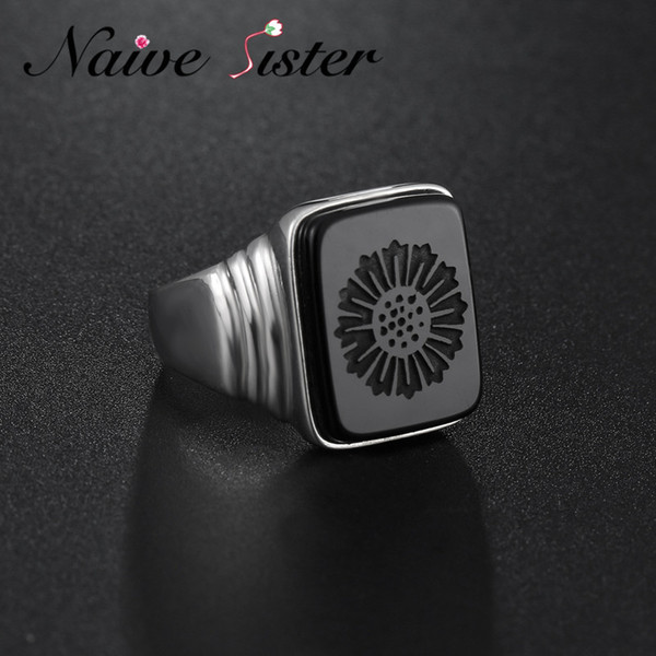 Top Quality Leonardo Dicaprio Ring The Great Gatsby Real 925 Sterling Silver Black Onyx Rings For Men Love Jewelry Wholesale SH190710
