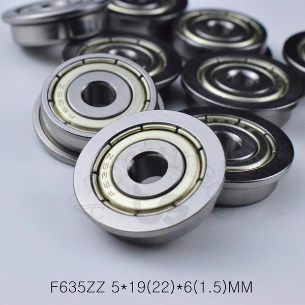 best selling F635ZZ bearing 5*19(22)*6(1.5)MM Flange bearings 635 F635Z F635ZZ chrome steel deep groove bearing