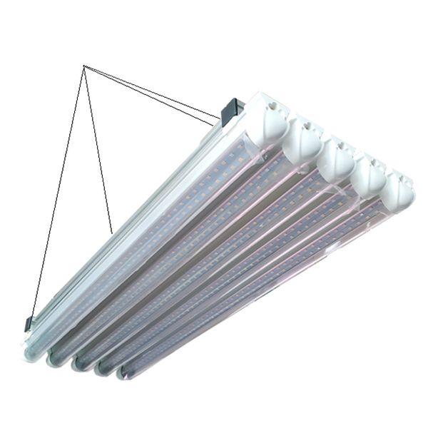 LED Grow Light Bar Fixture 360W spettro completo pianta del LED coltiva la luce 120 centimetri serra idroponica dell'interno Medica 10 in 1 4ft pianta crescere Tubo