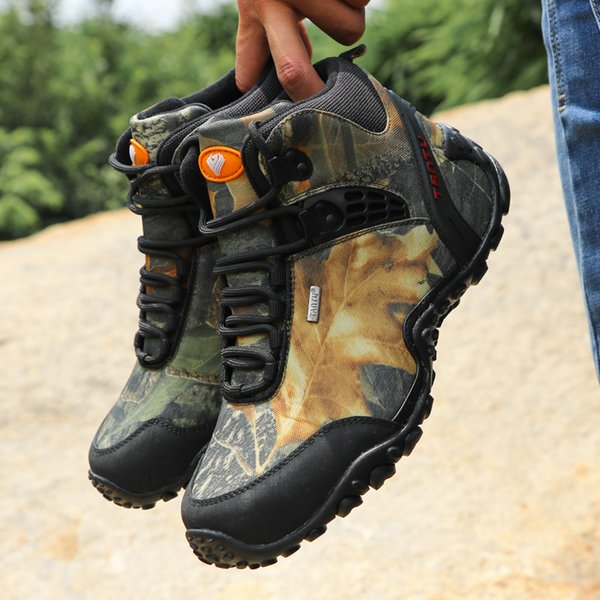 High Quality Unisex Hiking Climb Boots Autumn Winter Brand Outdoor Mens Sport Cool Trekking Mountain Climbing Athletic Hiking Shoes 40-46