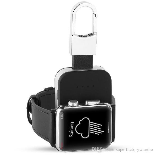 Qi Kablosuz Şarj Güç Bankası Iwatch 1 2 3 Için Taşınabilir Mini Kablosuz Şarj Harici Akü Anahtarlık Apple Izle
