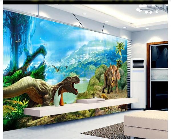 Großhandel Benutzerdefinierte 3D Silk Fototapete Tapete 3D Jurassic  Dinosaur Traum Wohnzimmer Schlafzimmer Sofa Hintergrund Wandwand Aufkleber  Papel ...