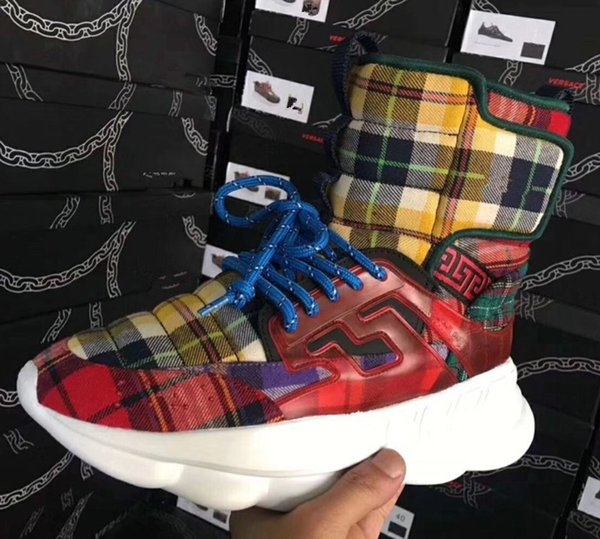2018 autumn and winter new Medusa men's shoes thick bottom increased short tube Martin boots Korean high-top men's shoes xo88605
