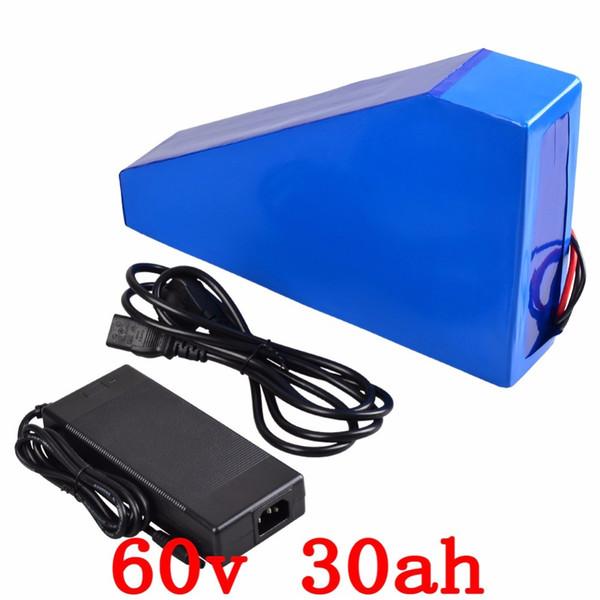 60v 30ah batería triangular 60v 30ah batería de ion litio LG celular 60V 2000W batería eléctrica con cargador 67.2V + bolsa gratis