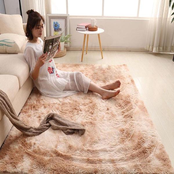 Tappeto sfumato tie-dye soggiorno camera da letto ins capelli lunghi nordico semplice tappeto divano comodino negozio completo spesso antiscivolo