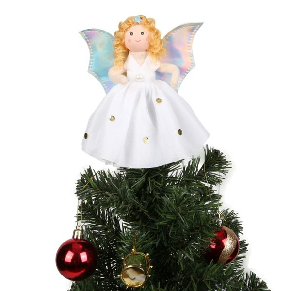 Christmas Tree Toppers.2018 Christmas Angel Christmas Tree Toppers Guardian Angel Decorations Kids Tree Decorations Decorations Decorations Christmas From Baibuju8 34 03