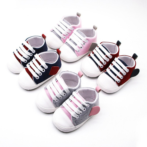 Canvas Baby Sneaker Sport Shoes For Girls Boys Newborn Shoes Baby Walker Infant
