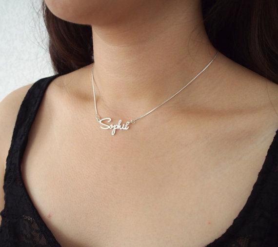 Custom Name Necklace Personalized Necklace 925 Sterling Silver Jewelry Customized Necklace J190711