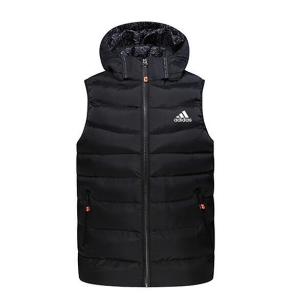 Новые женщины мужчина с капюшоном жилет куртка хлопка сгущать теплый жилет моды зима однополых высокого качества Жилеты пальто KJHK7815