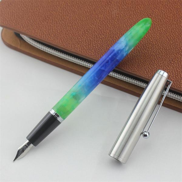 New Vintage Penna Stilografica Inchiostro Pieno metallo Clip Regalo Forniture scolastiche 0.5mm / 0.8mm Forniture per ufficio Accessori di alta qualità