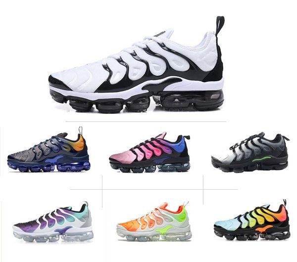 Acheter NIKE Air Max TN Plus Running Shoes NOUVELLE COULEUR Multi Barely Grey Metallic Olive Chaussures De Course Sport Sneaker Hommes Femmes 36 45 De