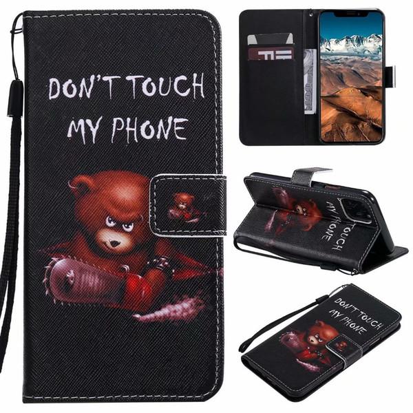 Dessin de couleur de téléphone portable cas de concepteur de mode luxe en cuir pour iPhone 11 xs / xr / x / 6/7/8 s / plus GooPhone pro max note Samsung S10 9