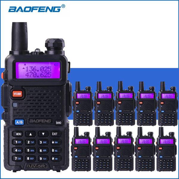 10PCS Baofeng UV-5R Walkie Talkie Professional CB Radio Station Baofeng UV5R Transceiver VHF UHF Portable Hunting Ham Radio