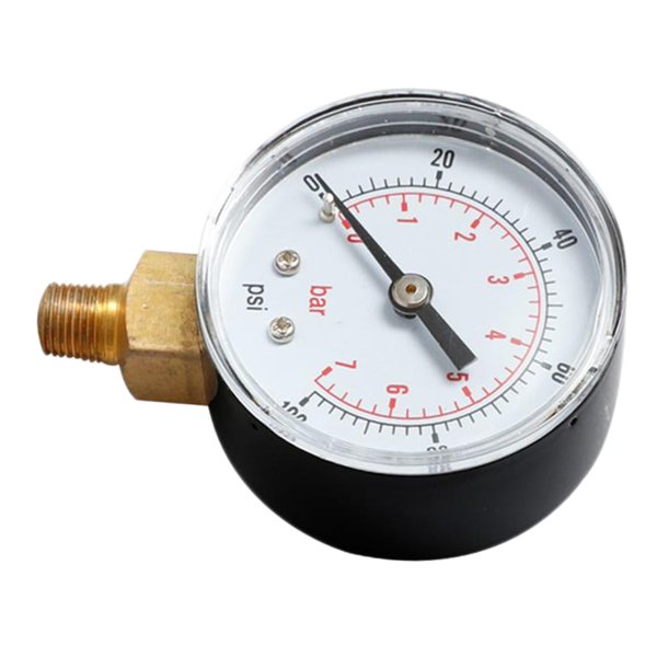 top popular 1 Pc TS-Y504 Radial Pressure Gauge For Oil Air Water 0-100psi 0-7bar 1 4BSPT 2020