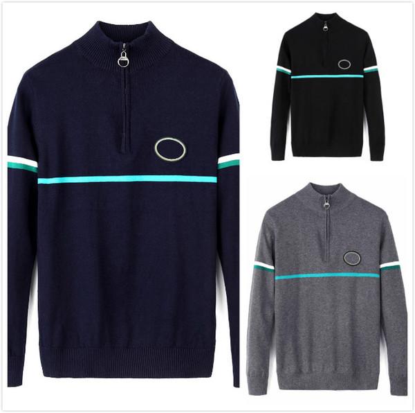 Crocodiles Men's Sweater High Quality Men's Designer Sweater Luxury Thicken Warm Zipper Pullover Sweater Classic Business Men'
