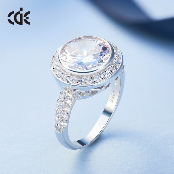 wedding party silver s925 beaded pearl gift woman lady diamond jewelry ring for bride acting initiation graduation cde-198 - from $40.12
