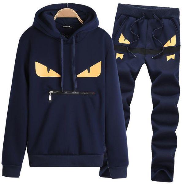 Casual Designer Trainingsanzug Männer Paar Luxus Trainingsanzug Sport Schwarz Polyester Cartoon Mens Hoodie Mit Langarm Pullover Kleidung M-3XL