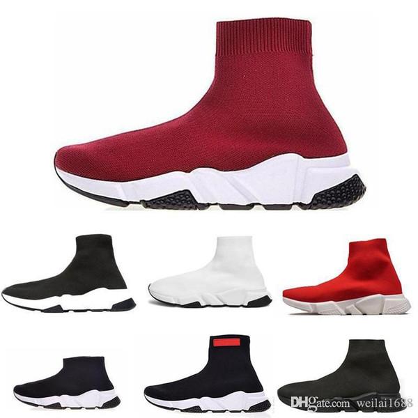 Yüksek Kalite Lüks Çorap Ayakkabı Hız Trainer Rahat Sneakers Hız Trainer Çorap Yarış Koşucu moda lüks erkek kadın tasarımcı sandalet ayakkabı
