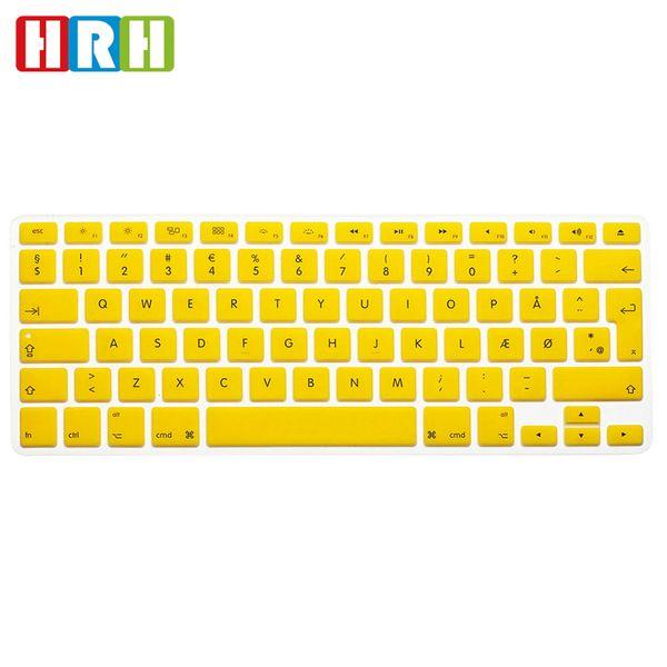 Danmark Danish Language EU Silicone Keyboard Cover Protective Film Keypad Skin Protector For MacBook Pro Air Retina 13 15 17