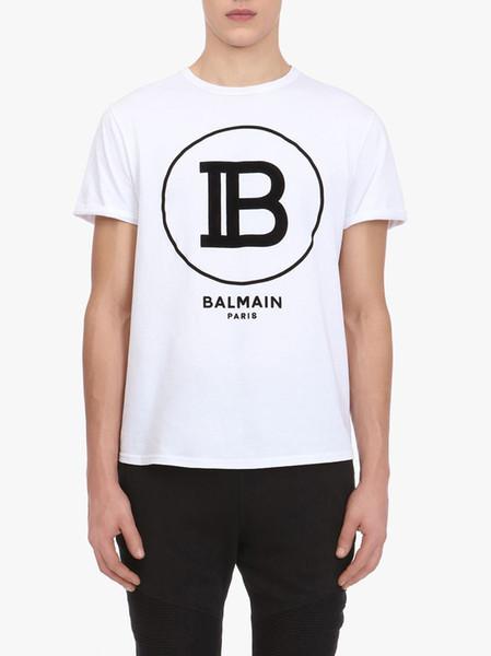 Printemps / automne 2020 chemises d'hommes de mode noir et blanc chemises hommes manches longues alphabet rue hip-hop planche à roulettes T-shirt garçon de la rue