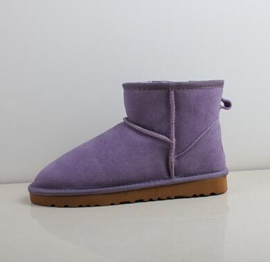 Factory Outlet Alta calidad WGG Clásico Mini botas cortas para mujer Botas altas Bota para mujer Botas de nieve Bota de cuero de invierno TAMAÑO EE. UU.
