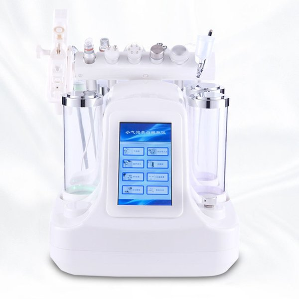 Preço de fábrica para 6 em 1 Pequena Bolha Cuidados Com A Pele Dispositivo 7 em 1 Ultrasonic RF Hydra Facial Profunda Poros Limpo Facial Máquina de Massagem