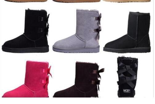 WGG Australia designer classique bottes d'hiver pour les femmes châtaigne noir gris rose designer neige cheville genou botte pour femmes chaussures taille 5-10